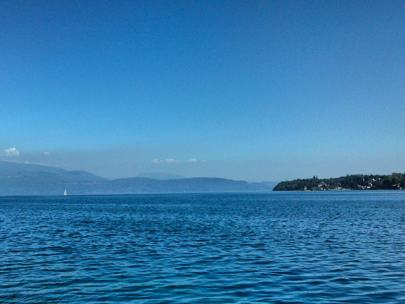 Fahrt am Gardasee mit dem Boot