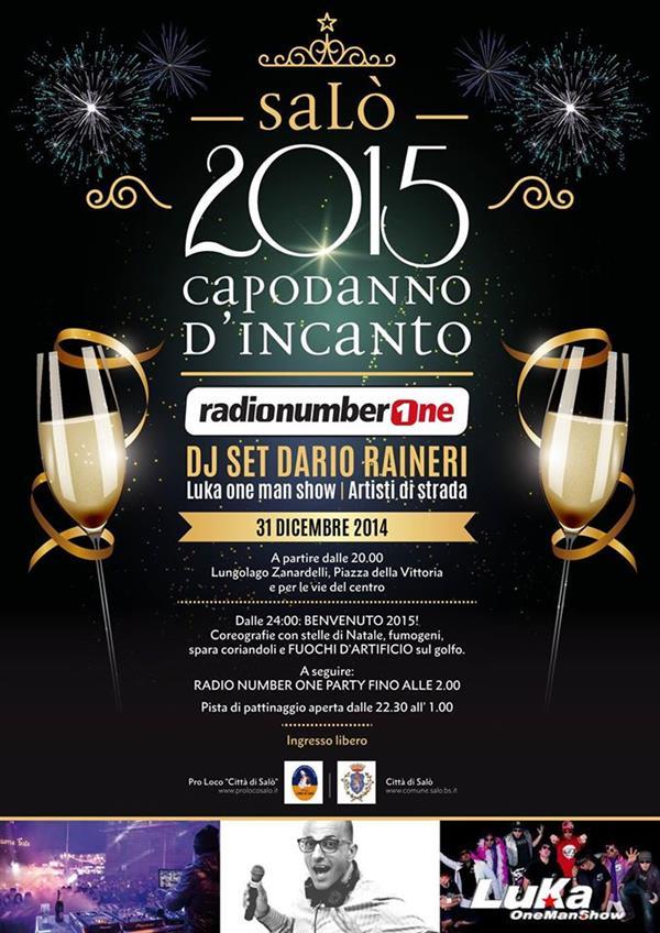 New year's party in Salo lake Garda